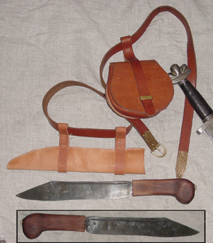 Rolan's Belt, Pouch and Seax